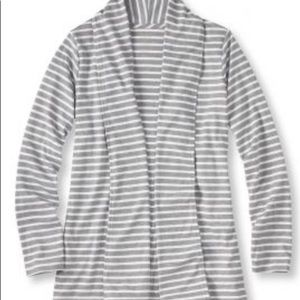 LLBean Pima Cotton Flyaway Cardigan Jacket NWOT